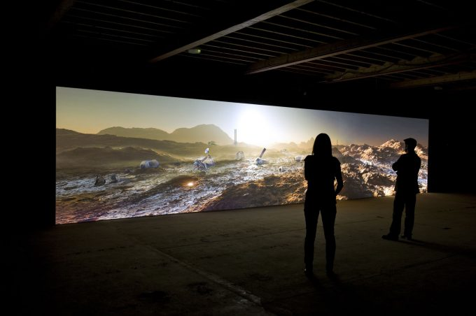 Kelly Richardson - Marinre 9 - Panoramic video Installation view