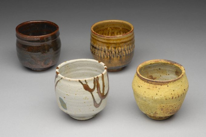 Warren Mackenzie - Stoneware Cups - from the Lacoste Gallery