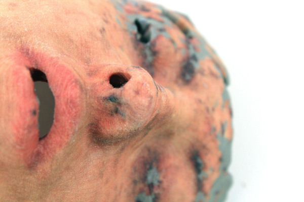 A full color 3d printed head by Lorna Barnshaw