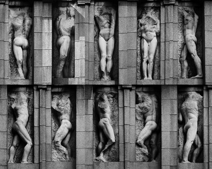 Jacob Epstein Mutilated Sculptures - The facade of the British Medical Association 19082