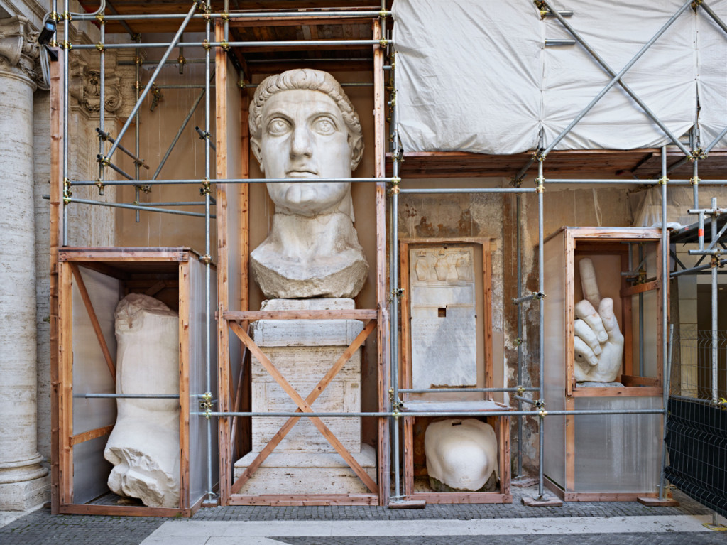 """Constantine Fragments"" is one of the photographs in Catherine Wagner's ""Rome Works"" series, made as of the American Academy's Rome Prize fellows. Courtesy Catherine Wagner."