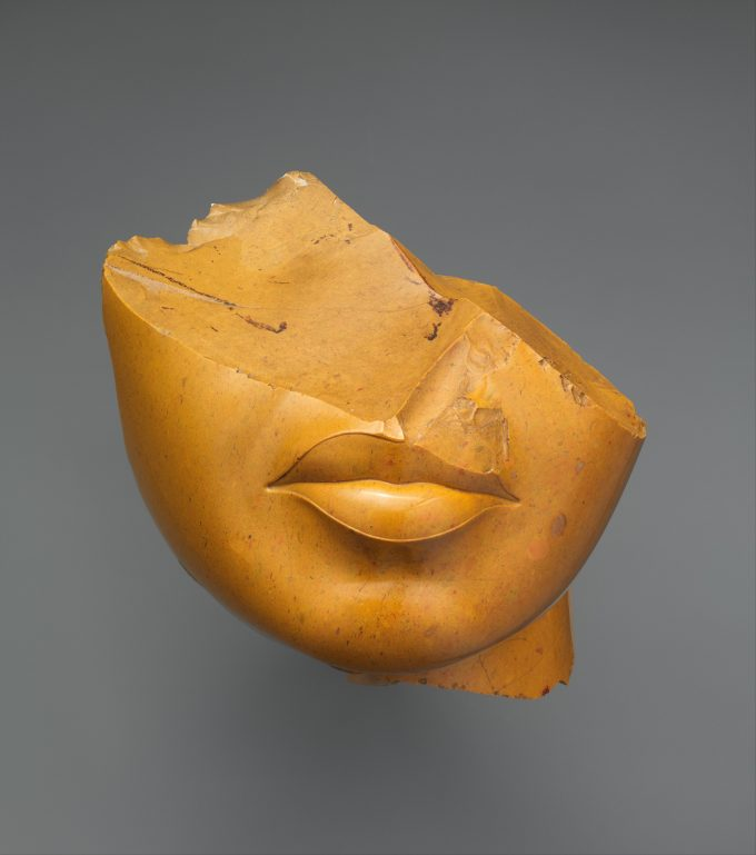 Fragment of a Queen's Face in Yellow jasper from The Metropolitan Museum of Art