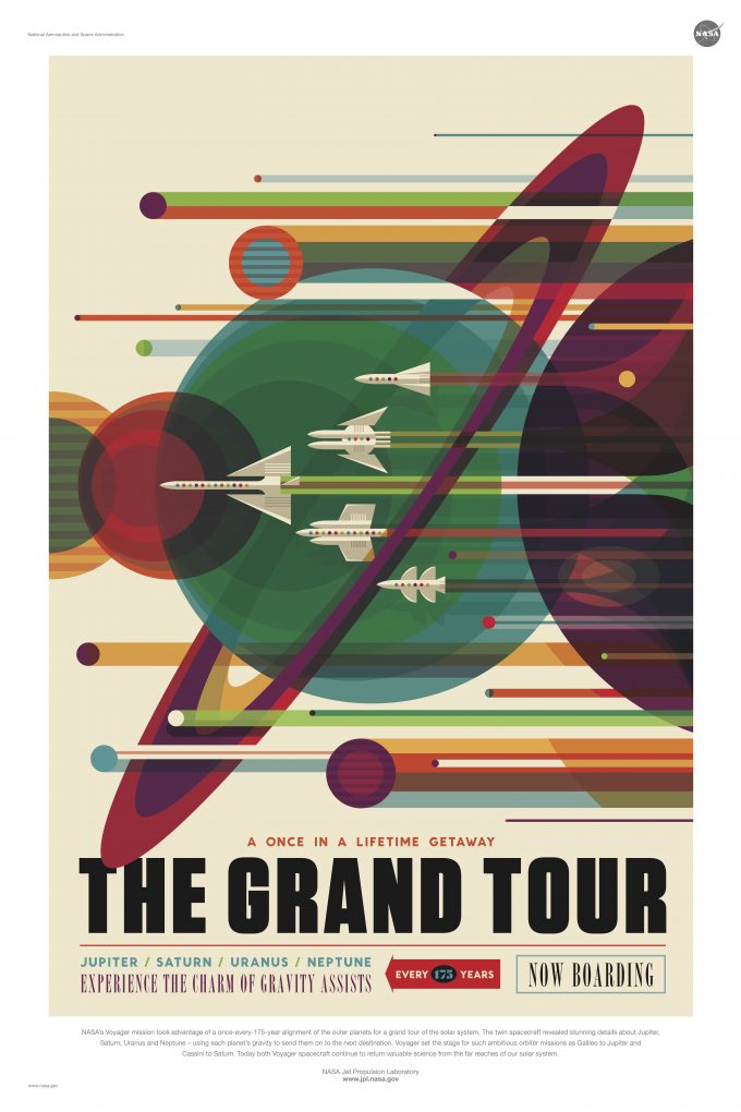 NASA Jet Propulsion Laboratory - Visions Of The Future poster - grand_tour