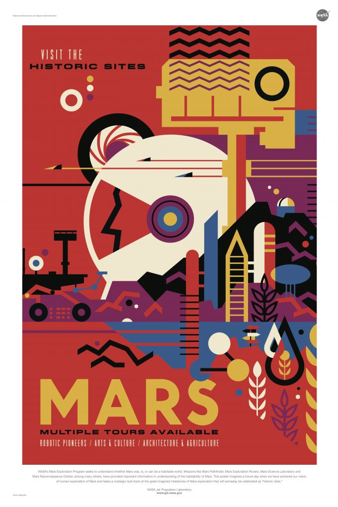 NASA Jet Propulsion Laboratory - Visions Of The Future poster - mars