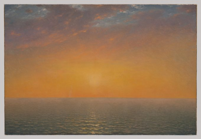 Sunset on the Sea - by John Frederick Kensett 1872