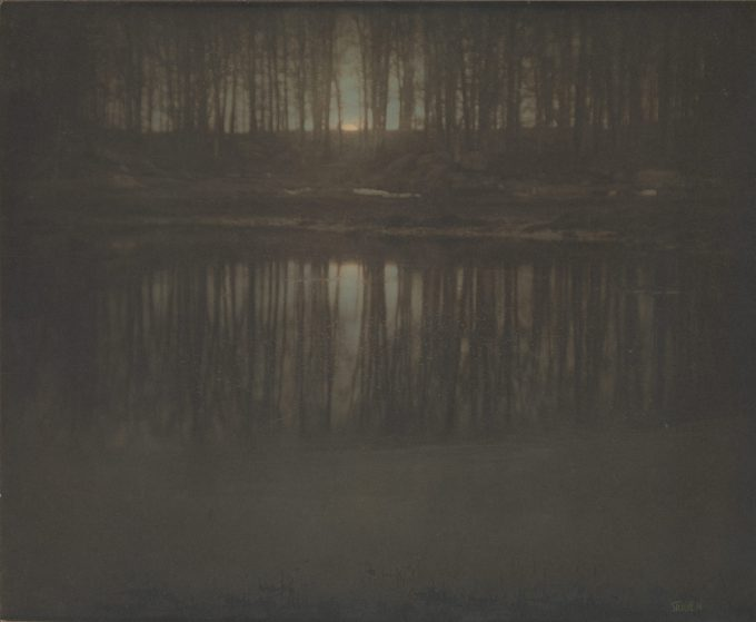 The Pond - Moonrise By Edward J. Steichen 1904