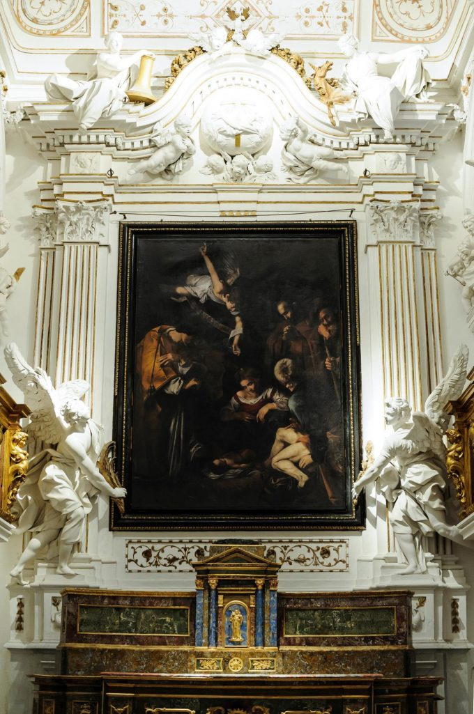 Factume Artes Facsimile of Caravaggio's Nativity with Saint Francis and Saint Lawrence
