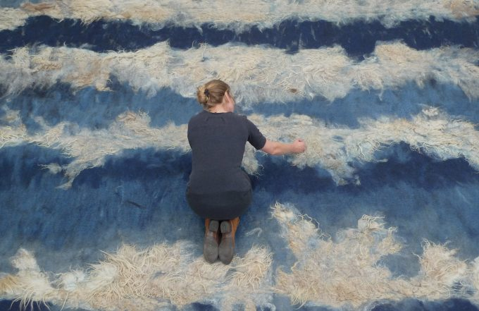 Felted Carpet Design by Claudy Jongstra