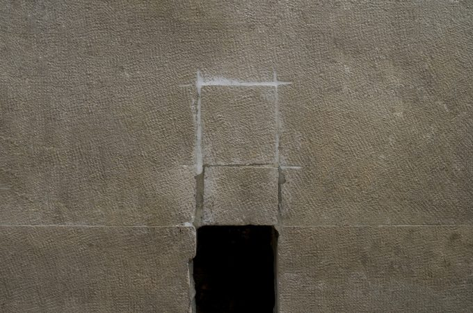 Photograph by John Fraser - Composition of Rectangles - 2015 From the Material Witness series