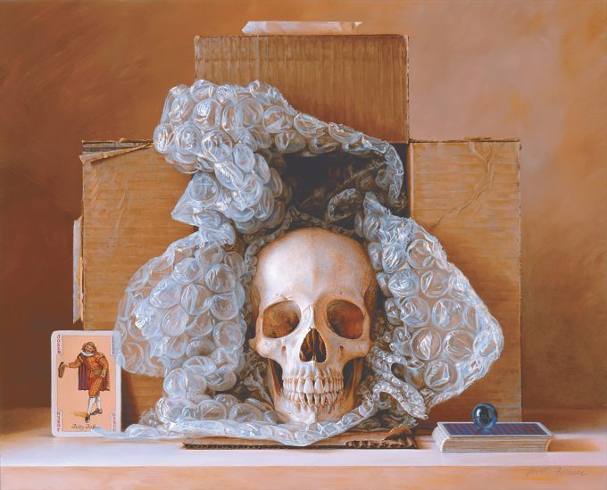 Still Life Painting by Scott Fraser - Thin Fragile Line - Oil on board