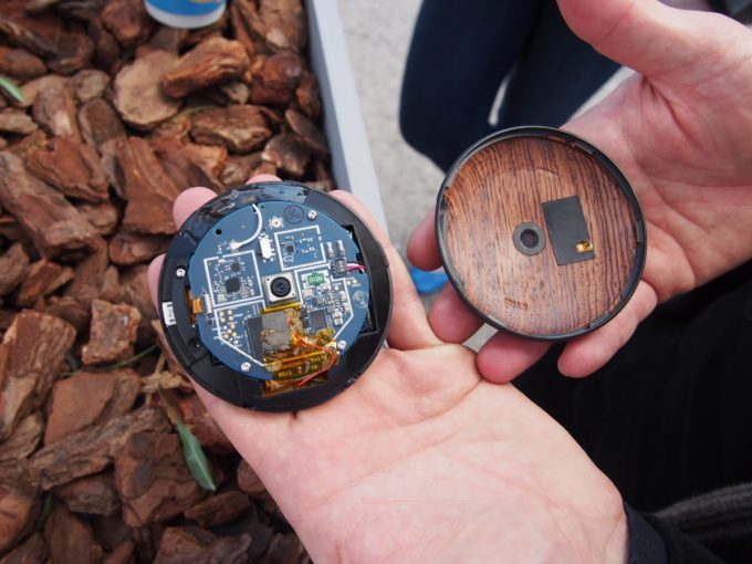 The Runcible smart device, disassembled to show its modular internals
