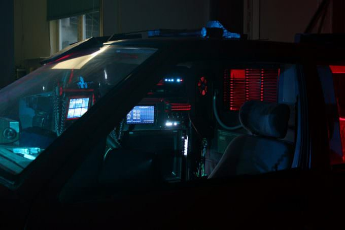 slice of life short film full scale cop car set