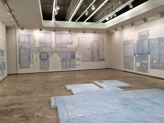 Image of the exhibit space from Do Ho Suh - Rubbing : Loving
