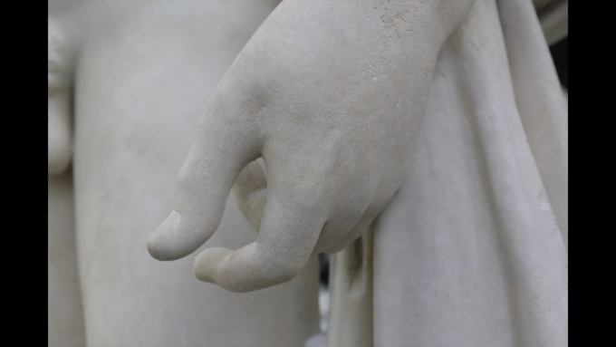 The final restored hand of the Lansdowne Hermes statue.