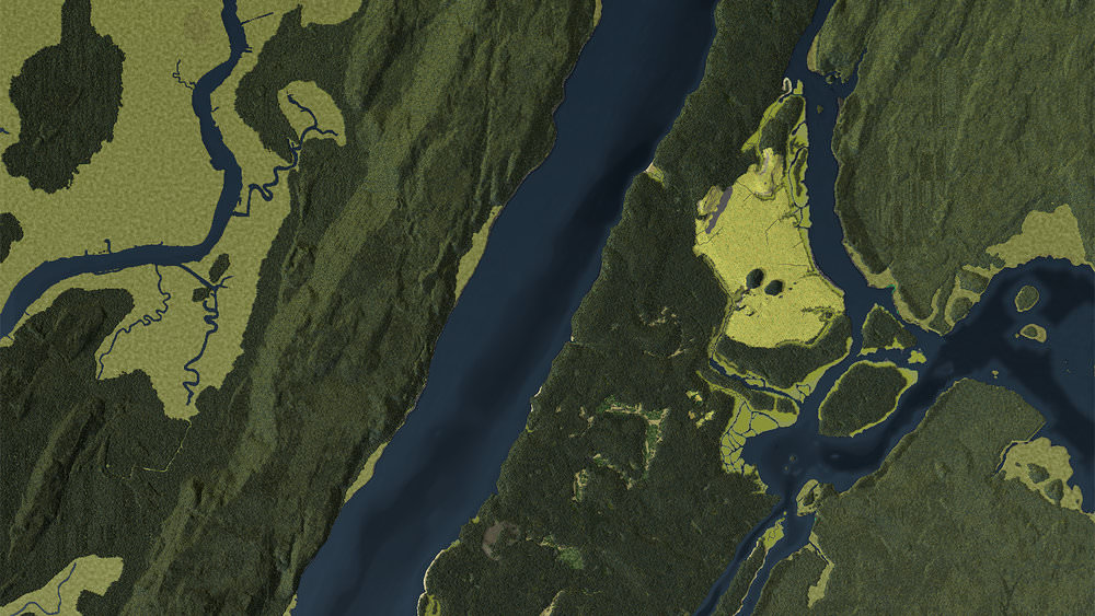 A visualization of Manhattan in 1609 - From Calling Thunder