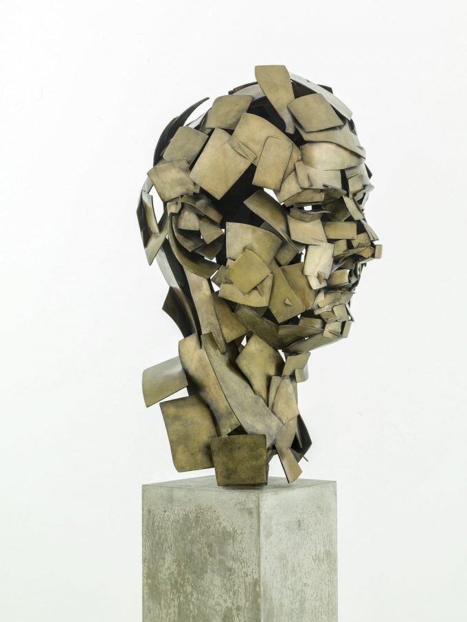 Jonathan Yeo Self Portrait VR Sculpture Cast in Bronze