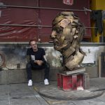 Pangolin Casting Bronze Sculpture for Jonathan Yeo